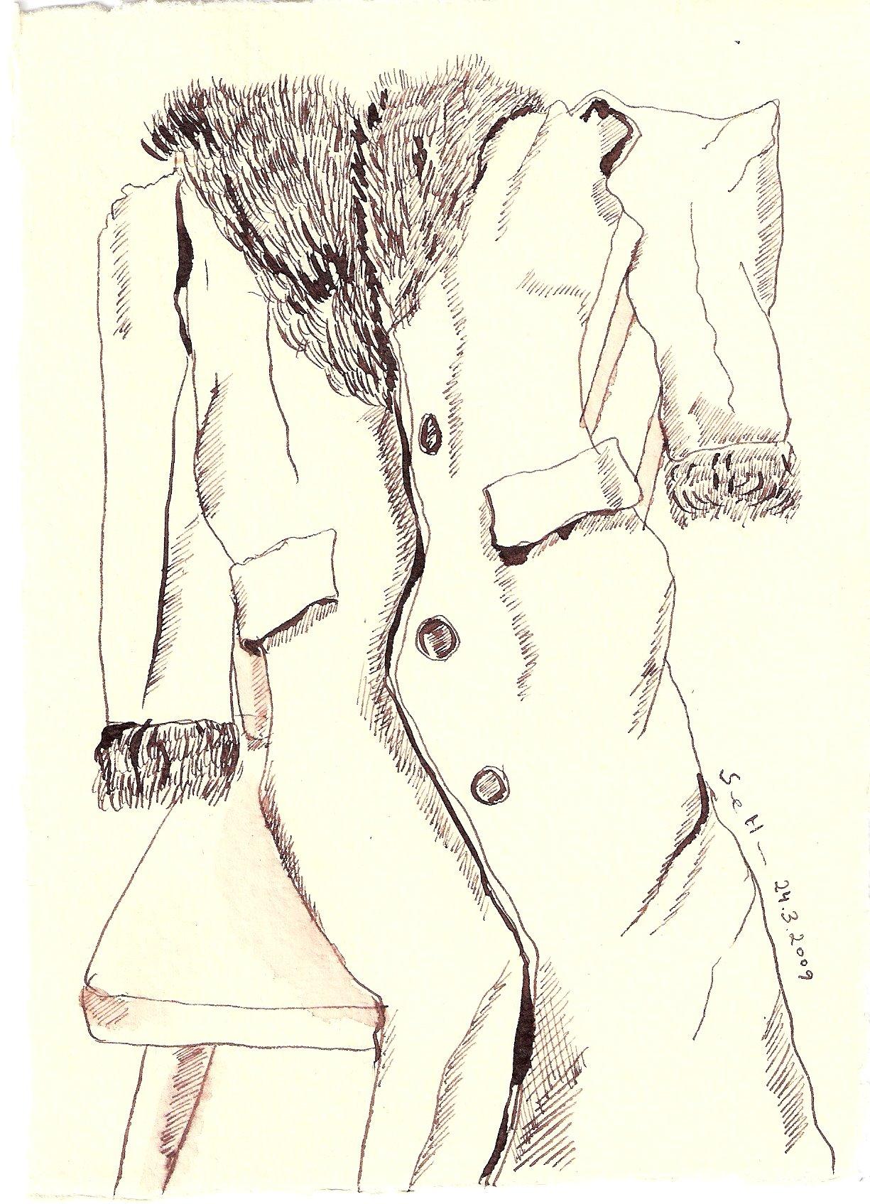 Dies ist die Geschichte von seinem Mantel.