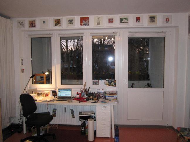 Wohnzimmer Arbeitsbereich