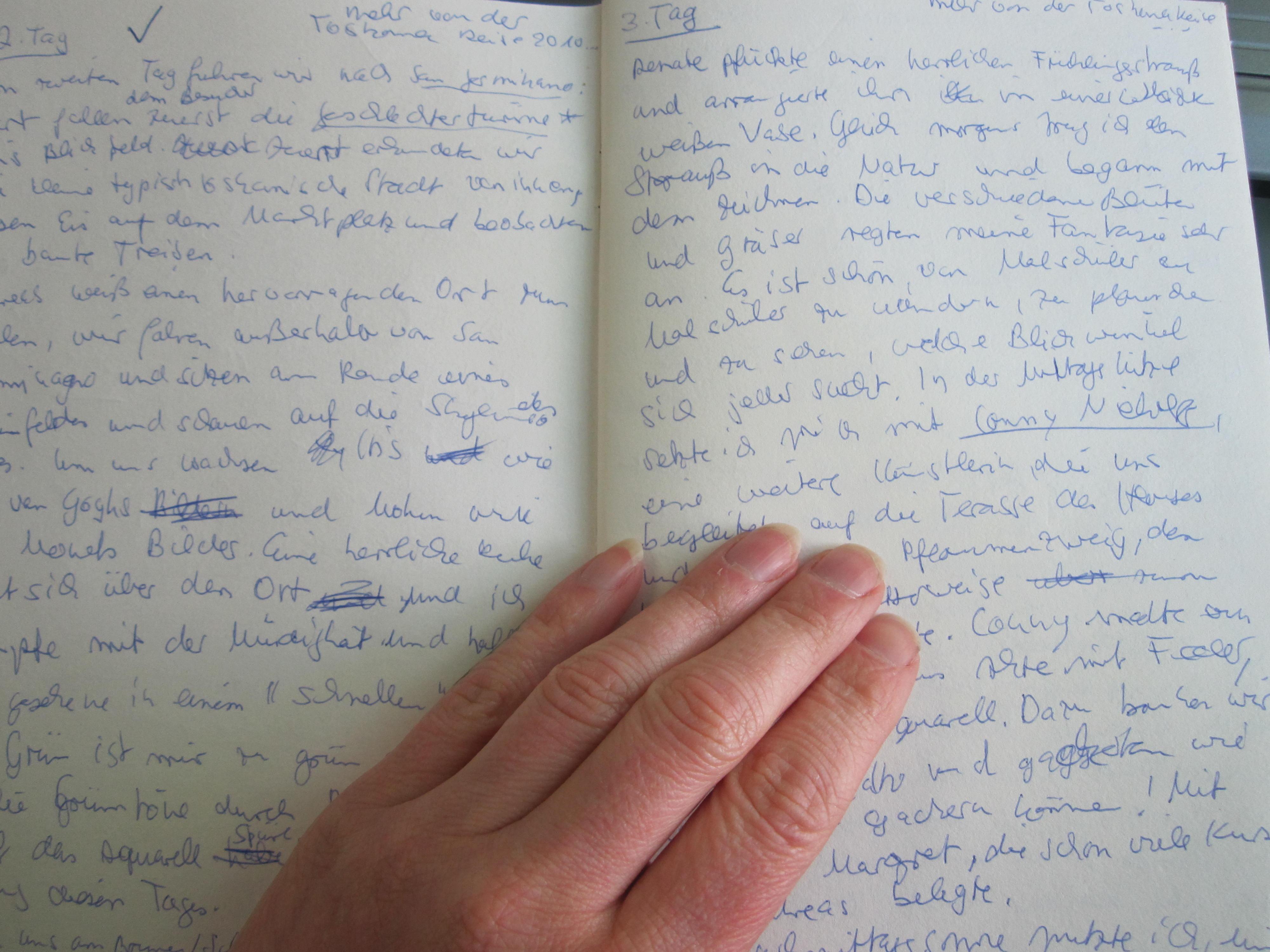 Auszug aus meinem Tagebuch zur Toskanareise - Foto von Susanne Haun