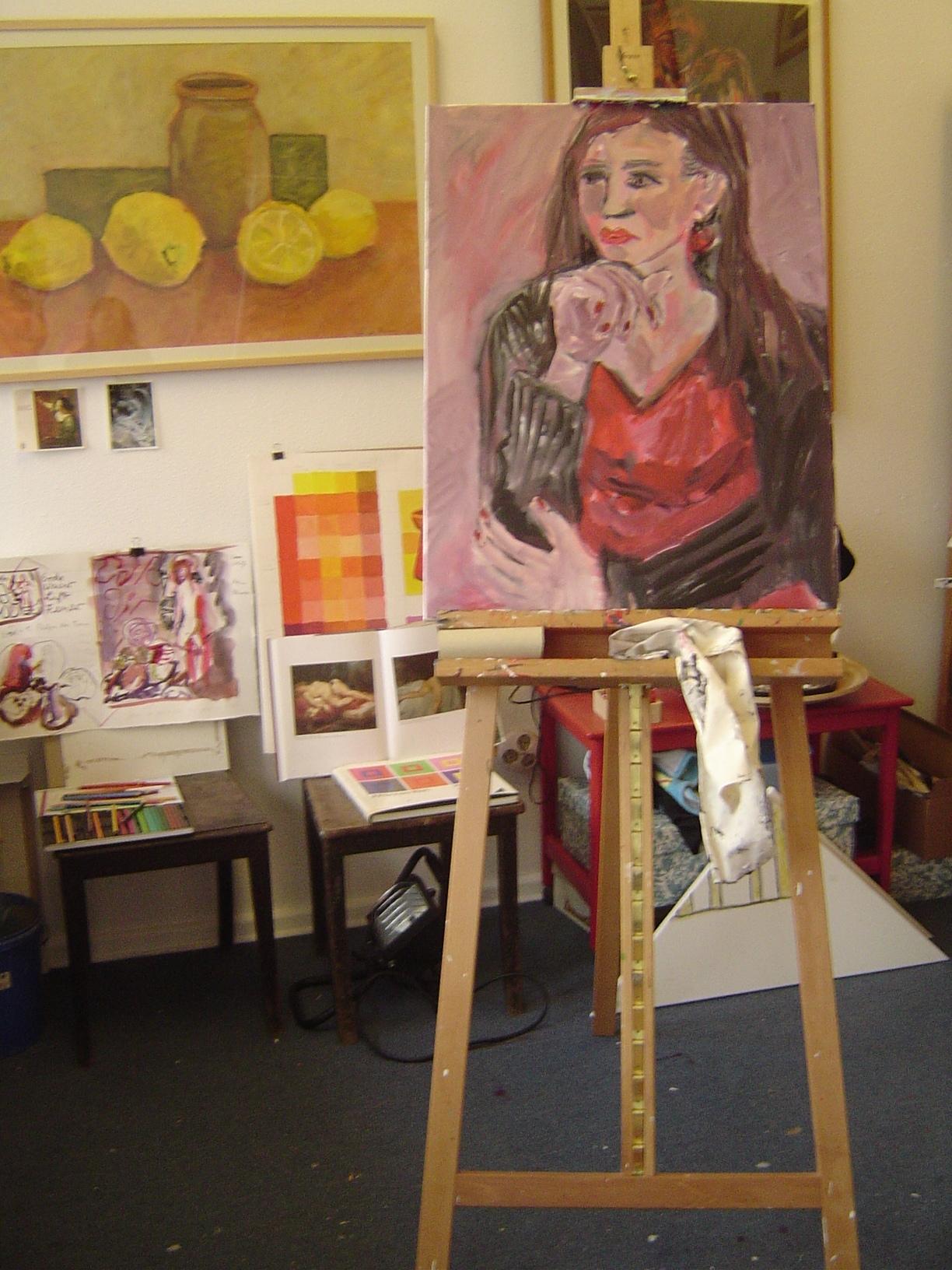 Entstehung Portrait Susanne Bröer 2005 - Foto von Susanne Haun