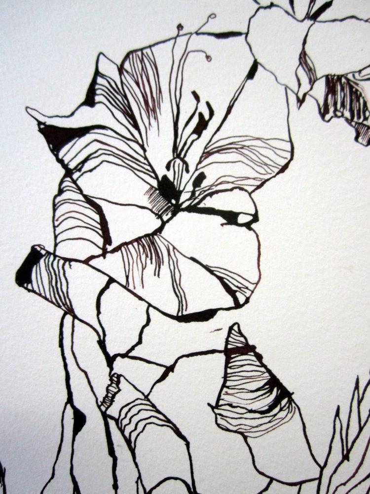 Ausschnitt 1 Orphelia Zeichnung von Susanne Haun