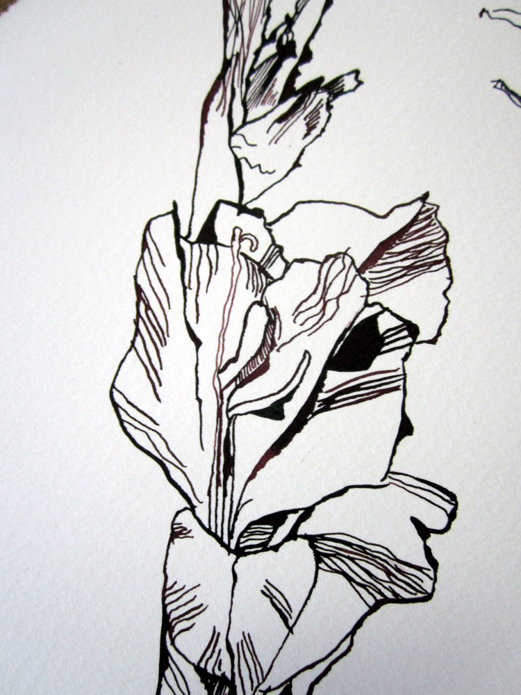 Ausschnitt 2 Orphelia Zeichnung von Susanne Haun