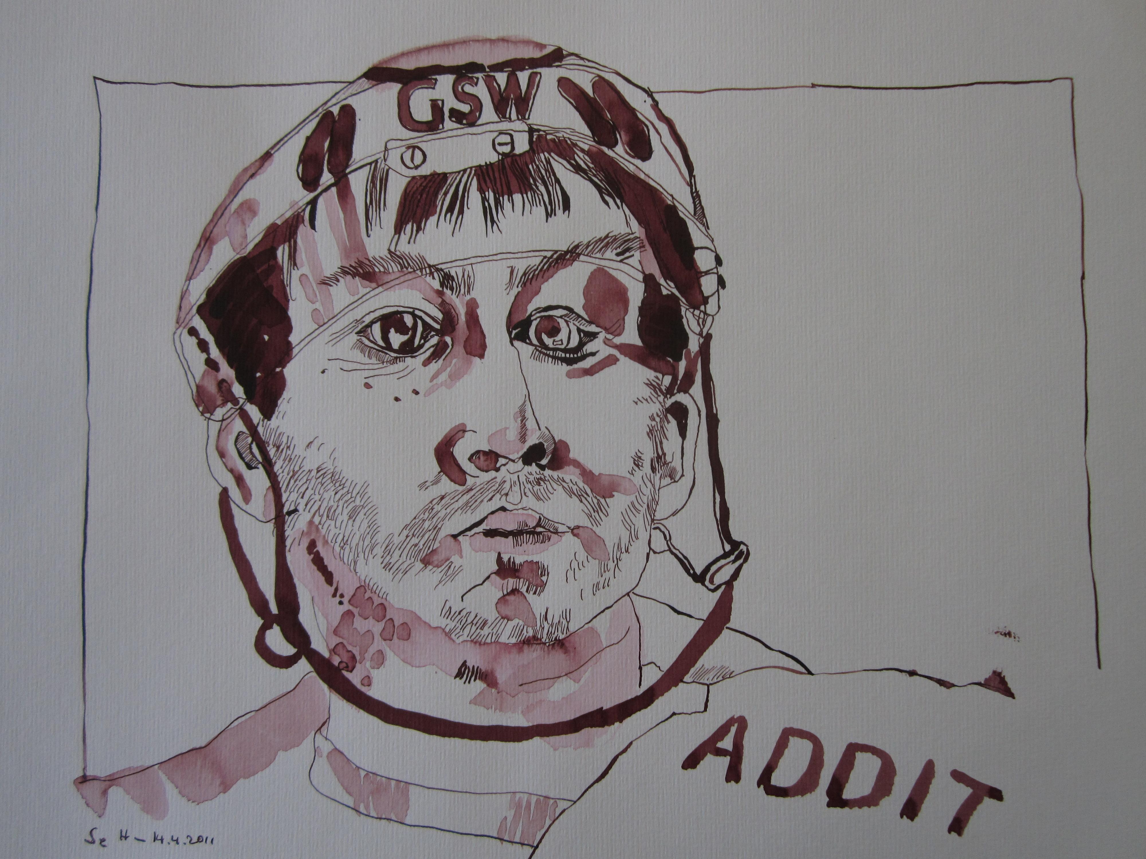 Sven Felski - Zeichnung von Susanne Haun - 30 x 40 cm - Tusche auf Bütten