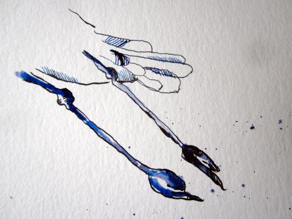 Ich habe keine große Vorstellung von Storchenfüssen - daher abstrahiere ich hier - Susanne Haun
