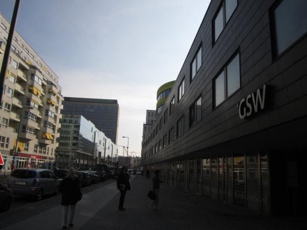 Der Eingang der gsw - Foto von Susanne Haun