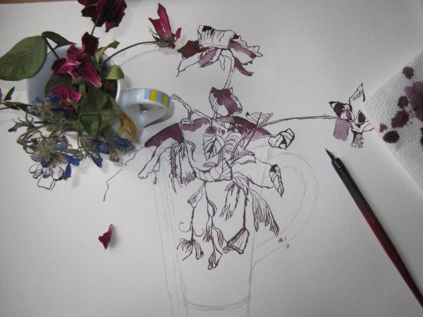 Ich habe heute ob der Erschütterung der Vergänglichkeit Bleistift benutzt - Foto von Susanne Haun