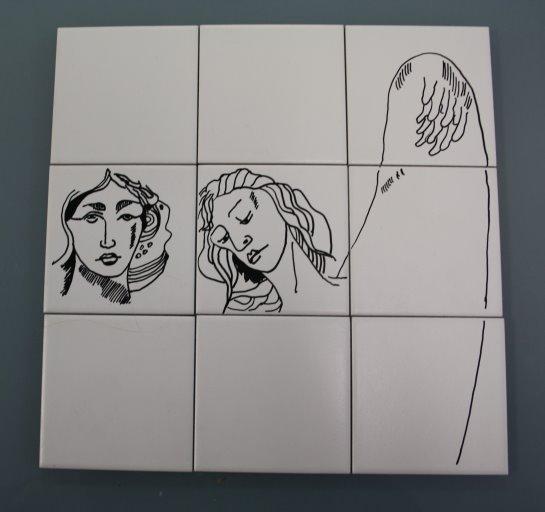 Es ist nicht einfach auf eine Keramik aus mehrere Teilen zu zeichnen - Susanne Haun