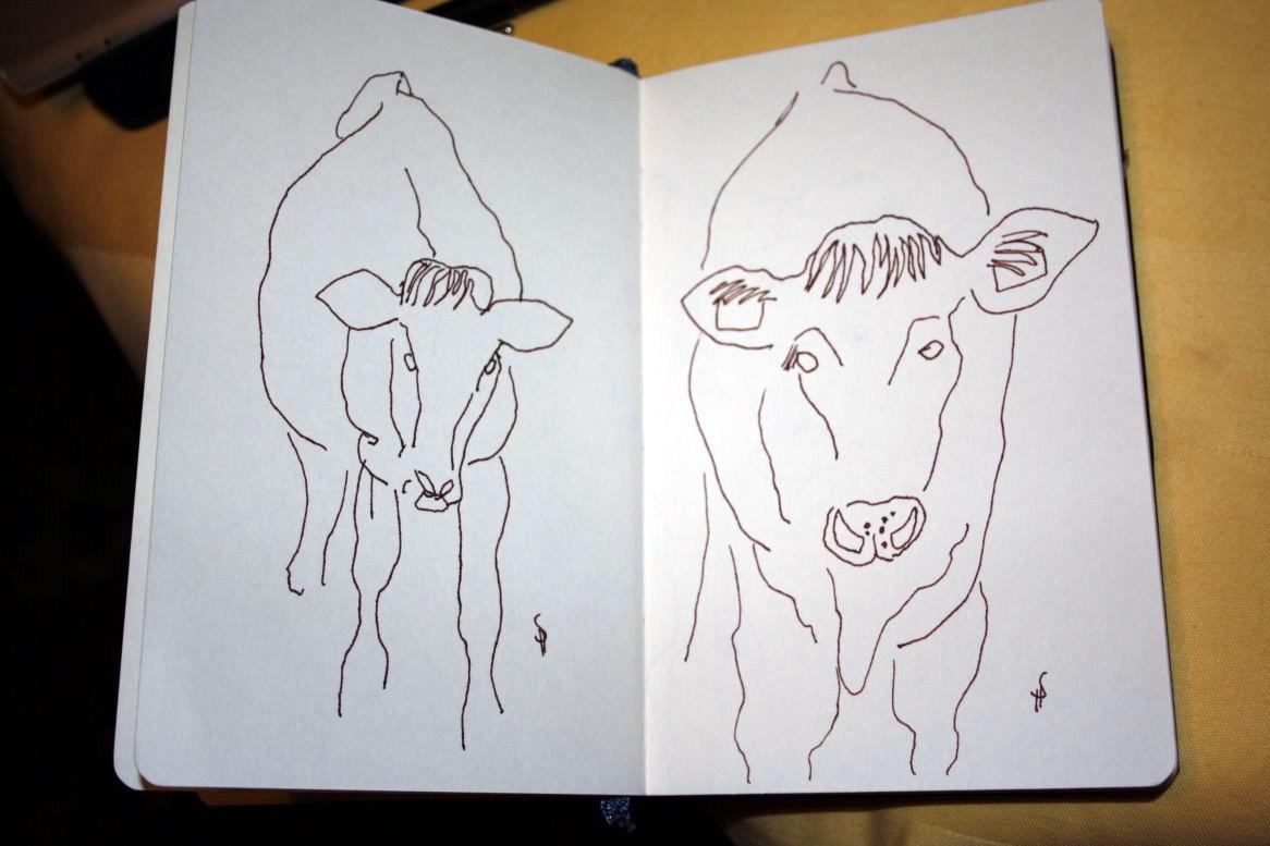Skizze Kühe auf der Weide Seite 2 von Susanne Haun