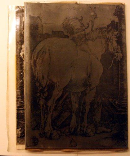 Radierplatte mit Dürer Motiv - Foto von Susanne Haun