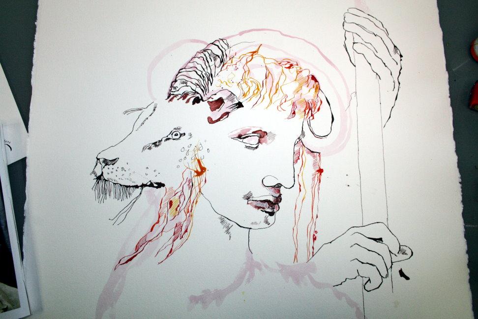Entstehung Feuerzeichen von Susanne Haun