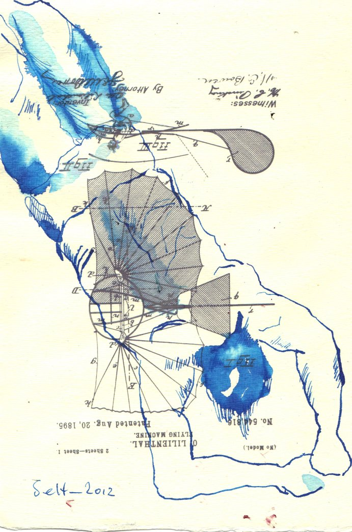 44. Lilienthal - Der FLug (c) Zeichnung Susanne Haun