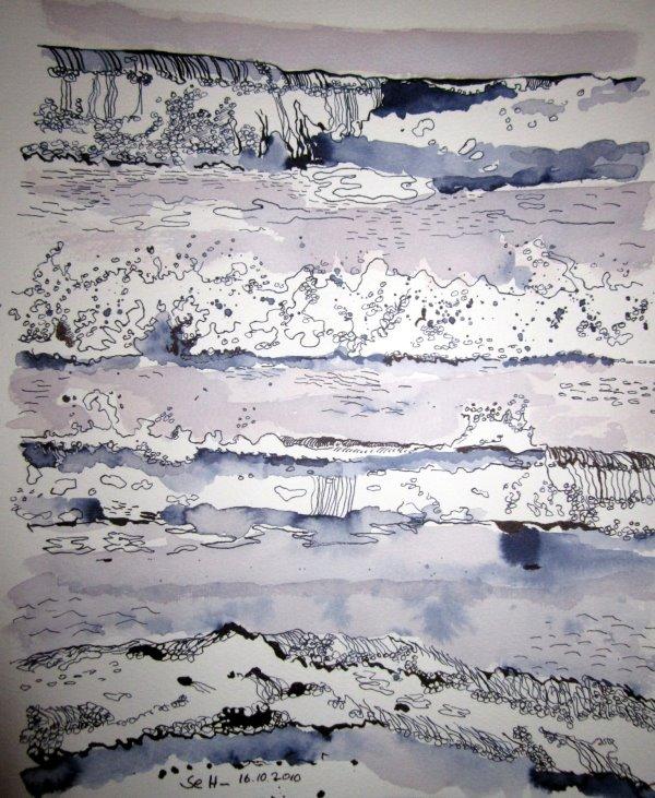 Ostsee 2010 34 x 22 cm (c) Zeichnung von Susanne Haun