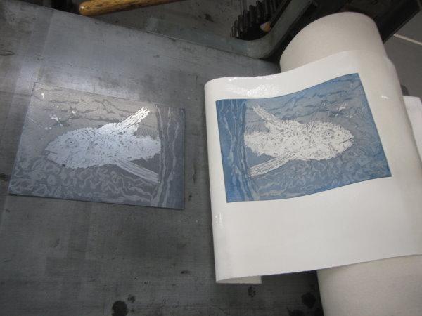 Der 1. Probedruck der Aquatinta (c) Susanne Haun