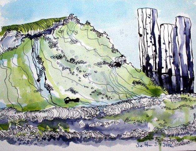 Ostsee 2012 34 x 22 cm (c) Zeichnung von Susanne Haun