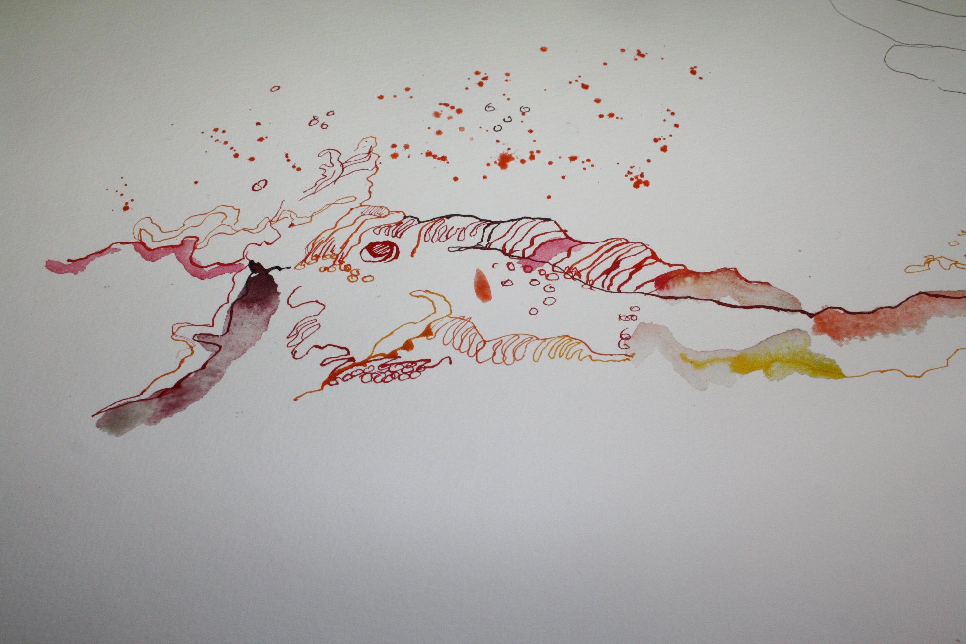 Eine Welle und Fische auf der 2. Rolle (c) Zeichnung von Susanne Haun (2)