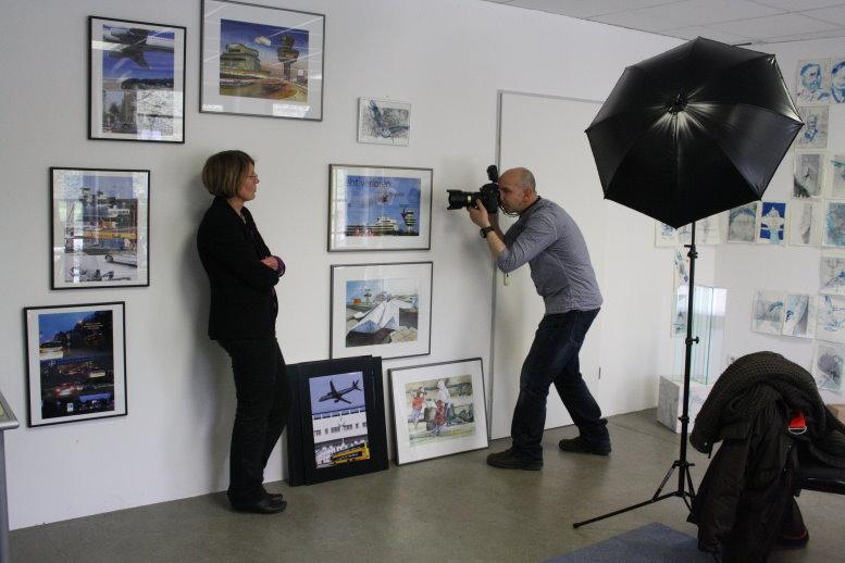 Christiane Weidner und der Fotografen der MoPo bei der Arbeit (c) Foto von Susanne Haun