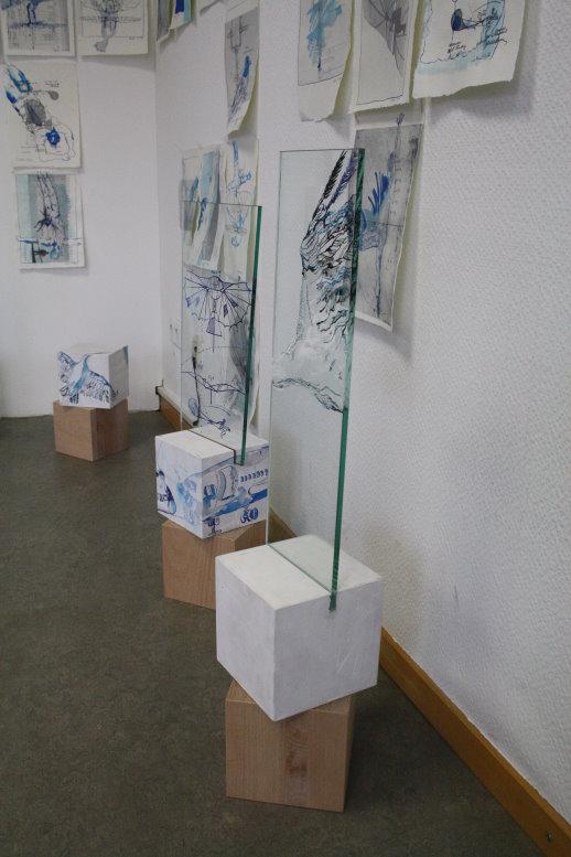 Gleiter und Storchenflug (c) Glas Objekte von Susanne Haun