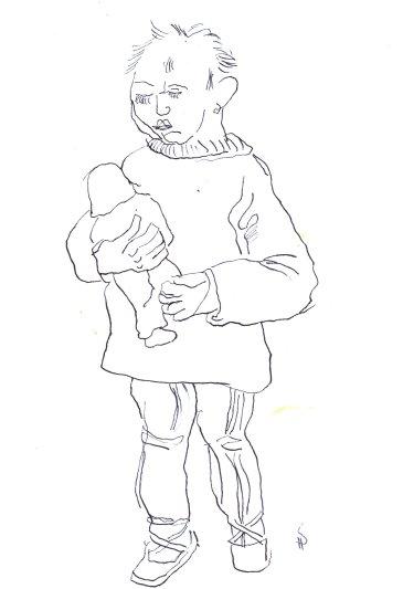 Selbst als 5jährige Version 2 (c) Zeichnung von Susanne Haun