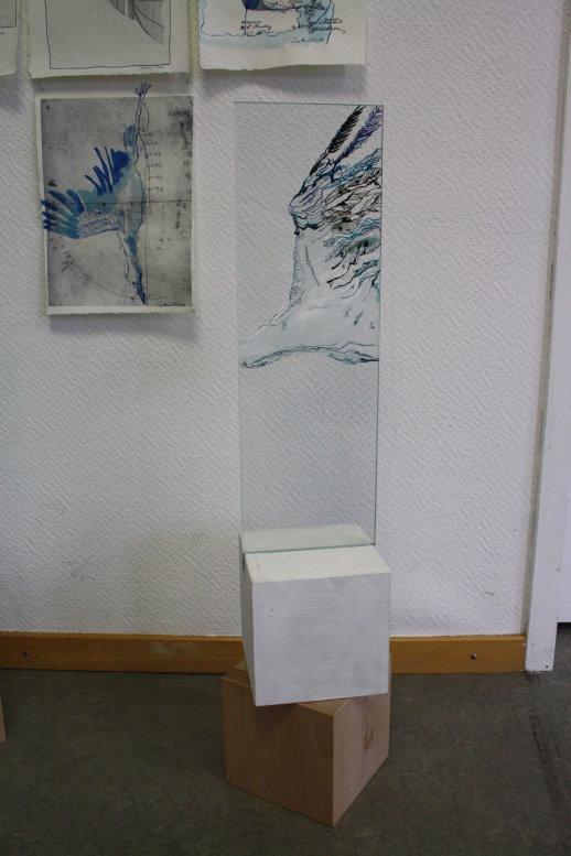 Storchenflug (c) Glas Objekt von Susanne Haun