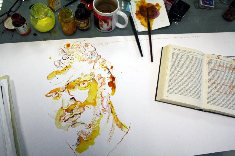 Henoch entsteht (c) Zeichnung von Susanne Haun
