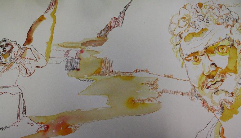 Die Schlucht zwischen Uriel und Henoch (c) Zeichnung von Susanne Haun