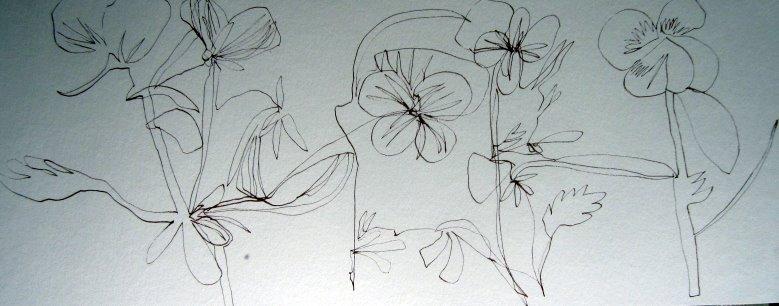 Die unendliche Linie in Weiterführung 20 x 50 cm (c) Susanne Haun