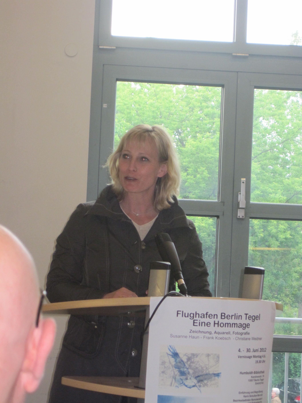 Frau Schulze Berndt, unsere Stadträtin redet (c) Foto von Susanne Bröer