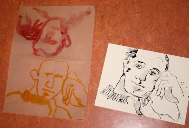 Experiment Portrait Boccioni (c) Zeichnung von Susanne Haun