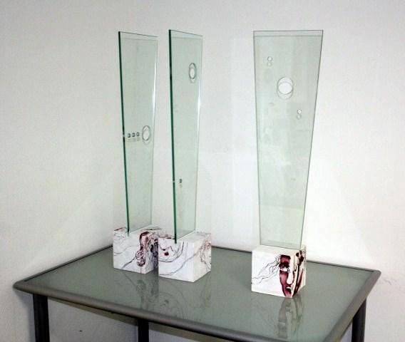 Objekt Konstellationen 3teilig 15 x 15 x 85 cm (c) von Susanne Haun