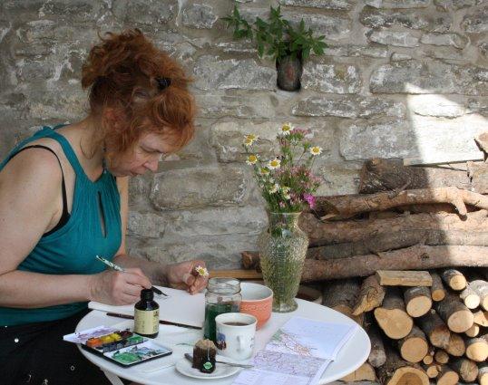 Ein schöner Platz zum Malen (c) Fotos von Susanne Haun