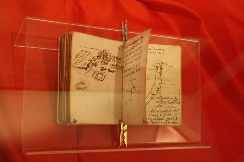 Skizzenbuch Leonardo da Vincis (c) Foto von Susanne Haun