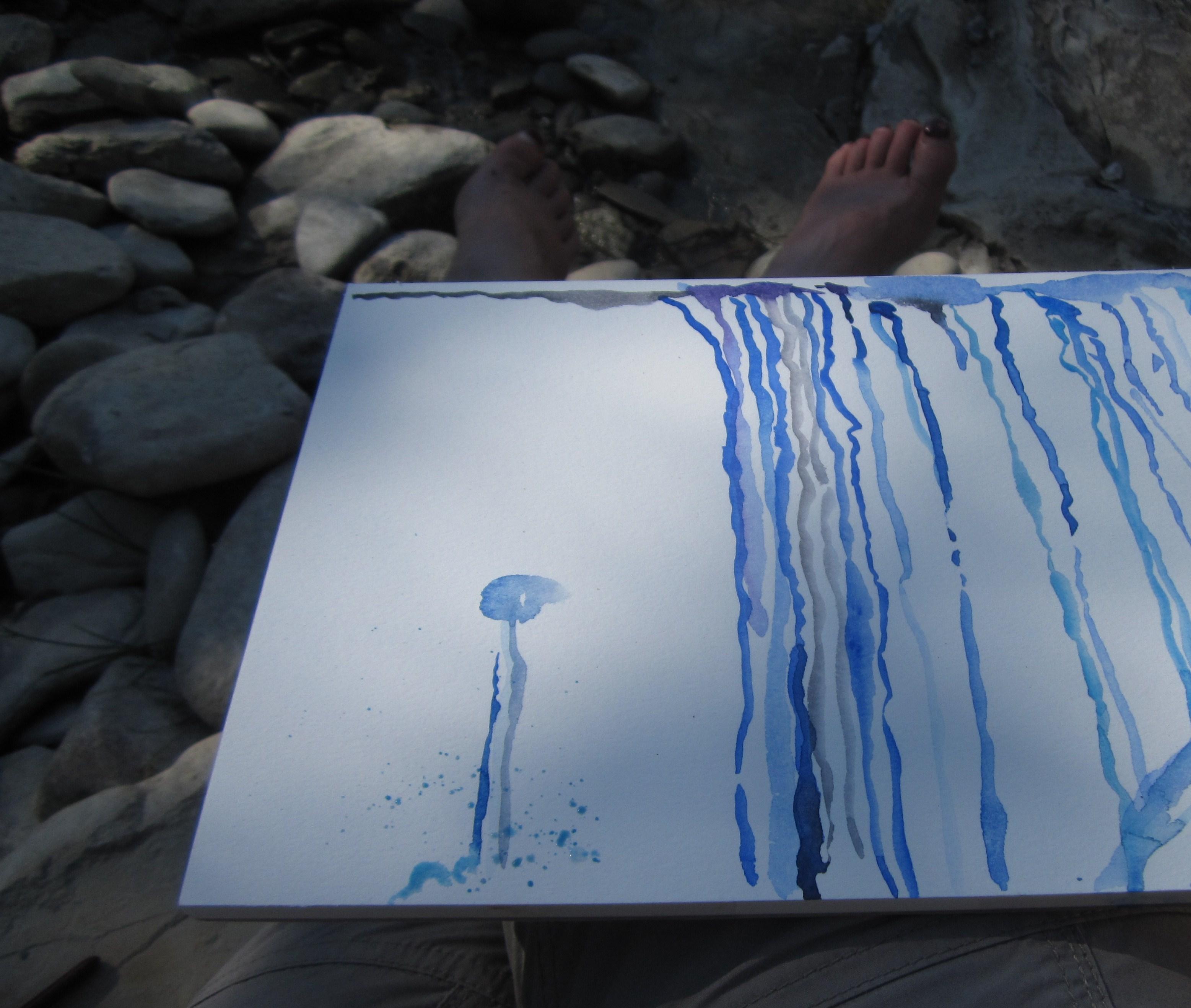 Ich will mit minimalen Mitteln das Wasser darstellen (c) Foto von Susanne Haun