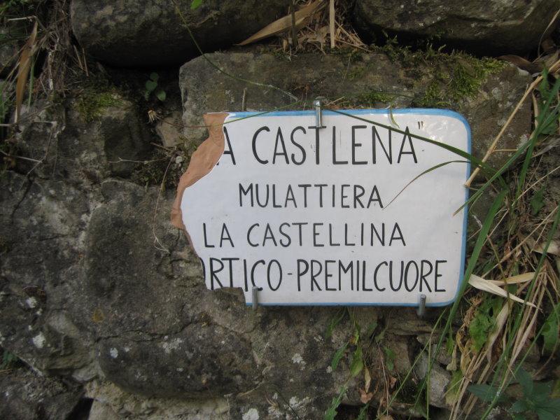 Schilder in Portico di Romagna (c) Foto von Susanne Haun