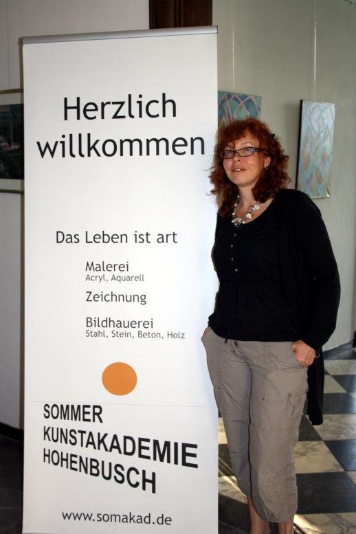 Ich bin schon einen Tag vor dem Kursbeginn in Hohenbusch (c) Foto von Angelika