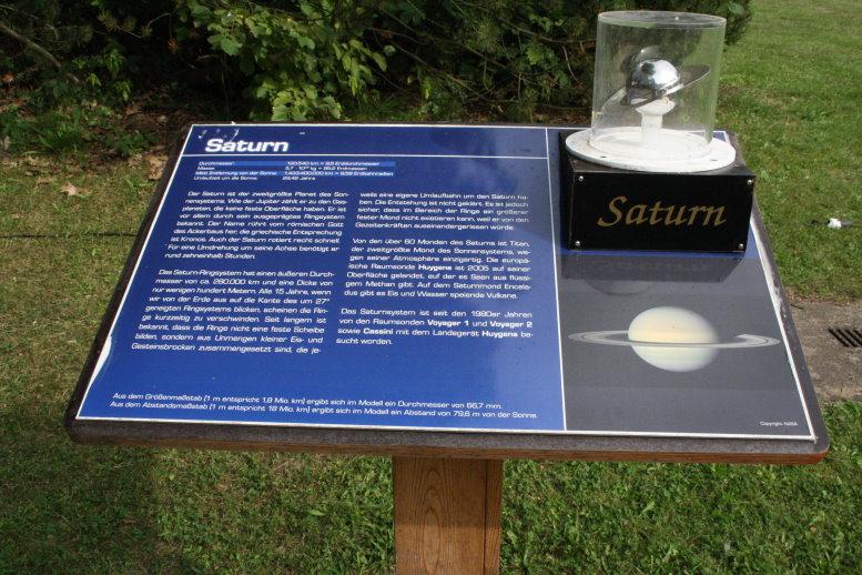 Draußen findet man die Erklärung aller Planeten (c) Foto von Susanne Haun