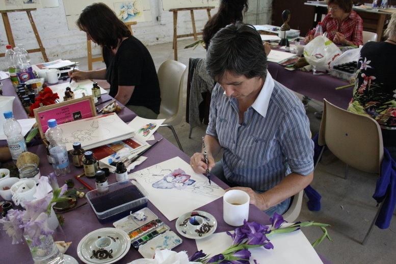 Karin mag es malerischer (c) Foto von Susanne Haun