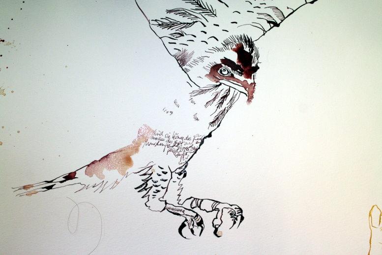 Auch Vögel sah ich (c) Zeichnung von Susanne Haun