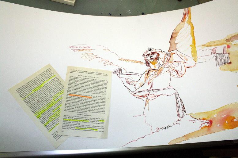 Ich finde den Anschluss zu den letzten Bildern (c) Zeichnung von Susanne Haun