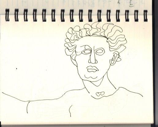 Engel in Florenz (c) Zeichnung von Susanne Haun (2)
