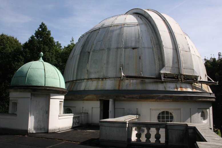 Auf dem Dach des großen Refraktors (c) Foto von Susanne Haun