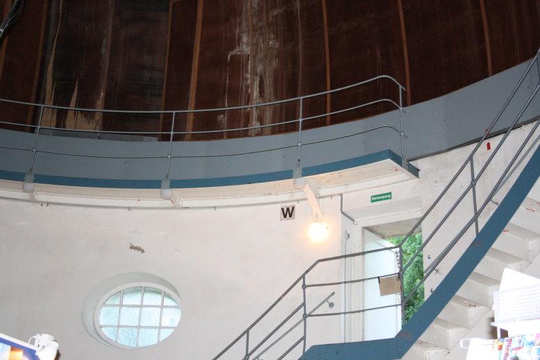 Im Westen die Treppe zum Aufstieg zur 2. Ebenen (c) Foto von Susanne Haun