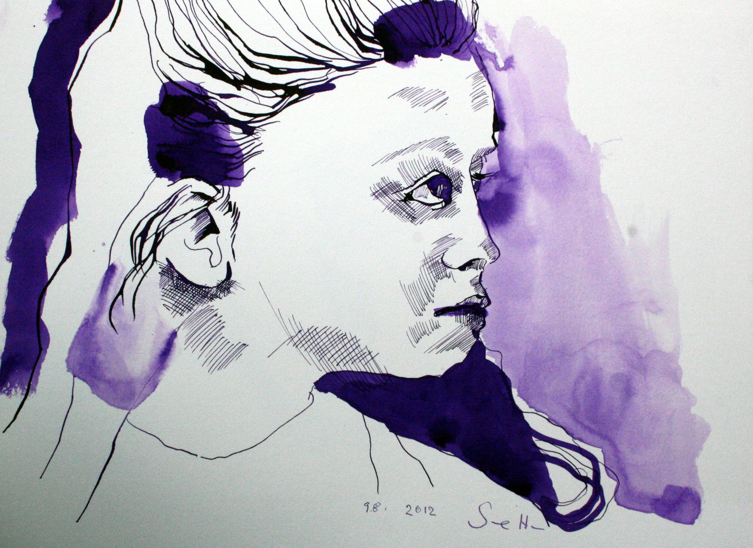 Mein Sinnbild von Mercedes 24 x 32 cm Tusche auf Bütten (c) Foto von Susanne Haun