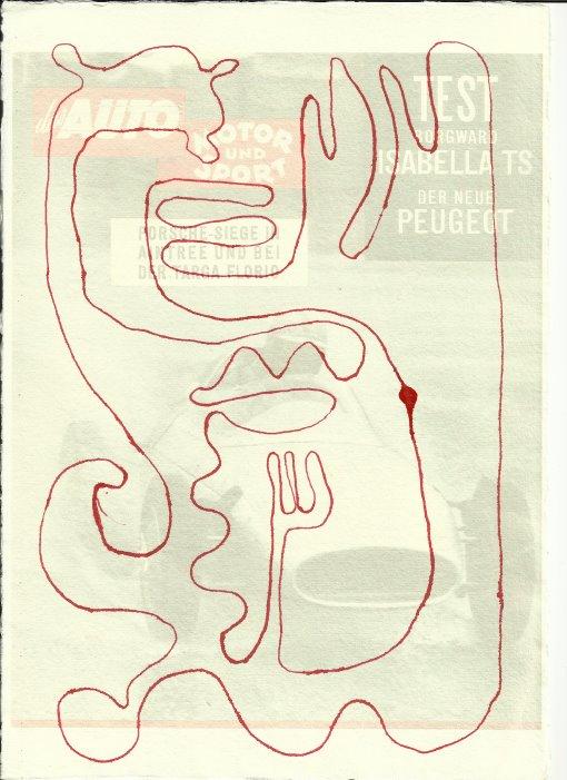 Ultimos Rennstrecke des Lebens Version 3(c) Zeichnung von Susanne Haun