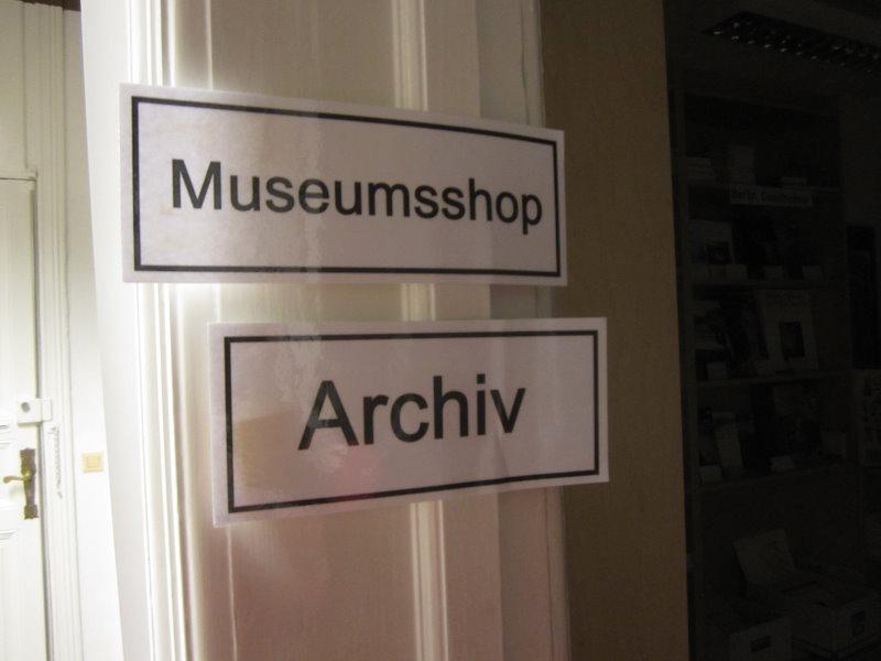 Vorne gleich der Museumsladen (c) Foto von Susanne Haun