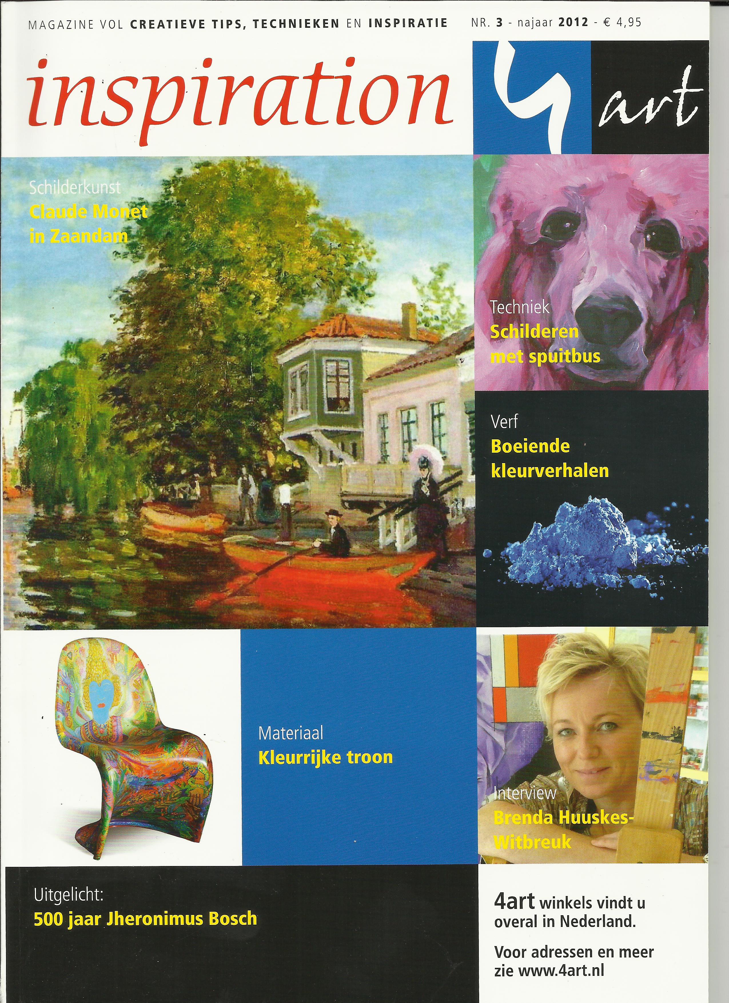 Titelseite des Magazine inspiration art Nr. 3 - najaar 2012 aus Hedel, Holland