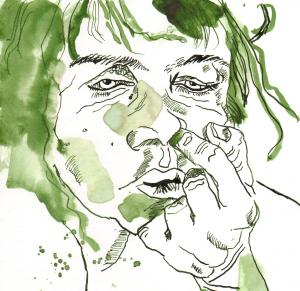 Ich 2009 (c) Zeichnung von Susanne Haun