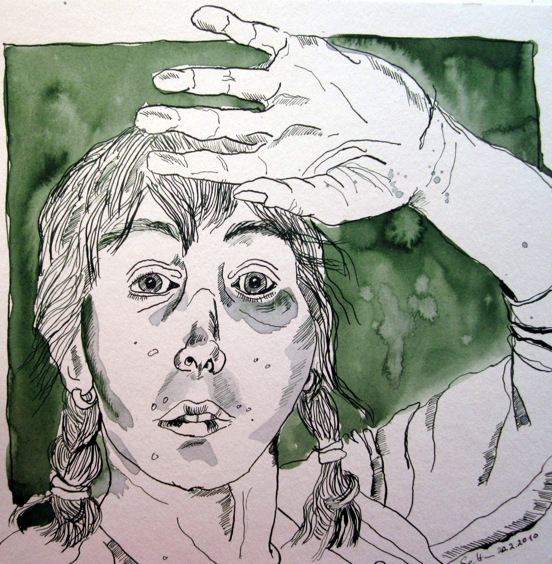 Ich 2010 (c) Zeichnung von Susanne Haun