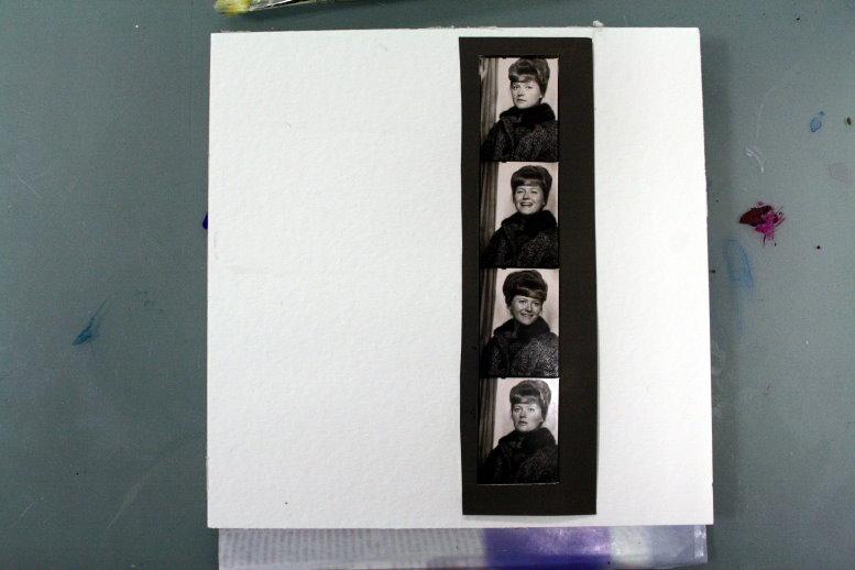 Entstehung Blatt 2 Für immer jung - 25 x 25 cm (c) Collage von Susanne Haun