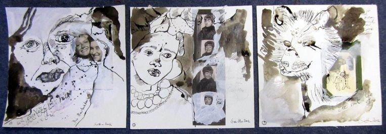 In Serie, ich bin zufrieden (c) Foto und Collage von Susanne Haun