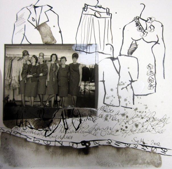 Blatt 10 War sie Schneiderin 25 x 25 cm (c) Collage von Susanne Haun